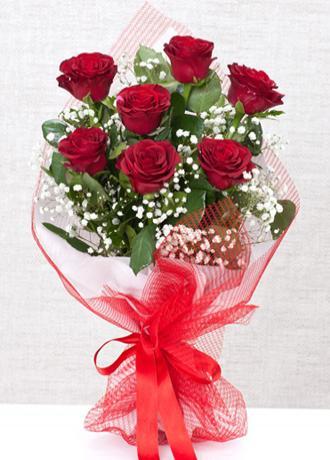 Alanya Çiçek 7 Kırmızı Gülden Buket