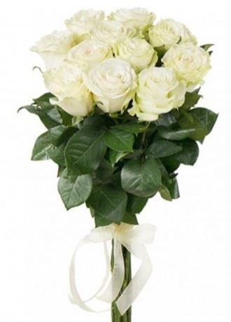 Alanya Çiçekçi 11 Beyaz Gül Buketi