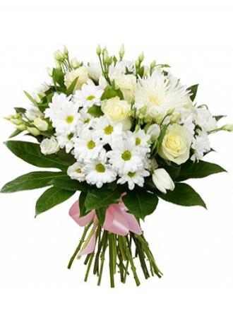 Alanya çiçekçi Krizantem Gül Lisyantus
