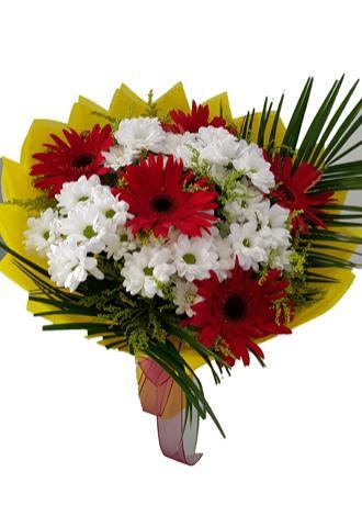 alanya Çiçek Gerbera Krizantem Buketi
